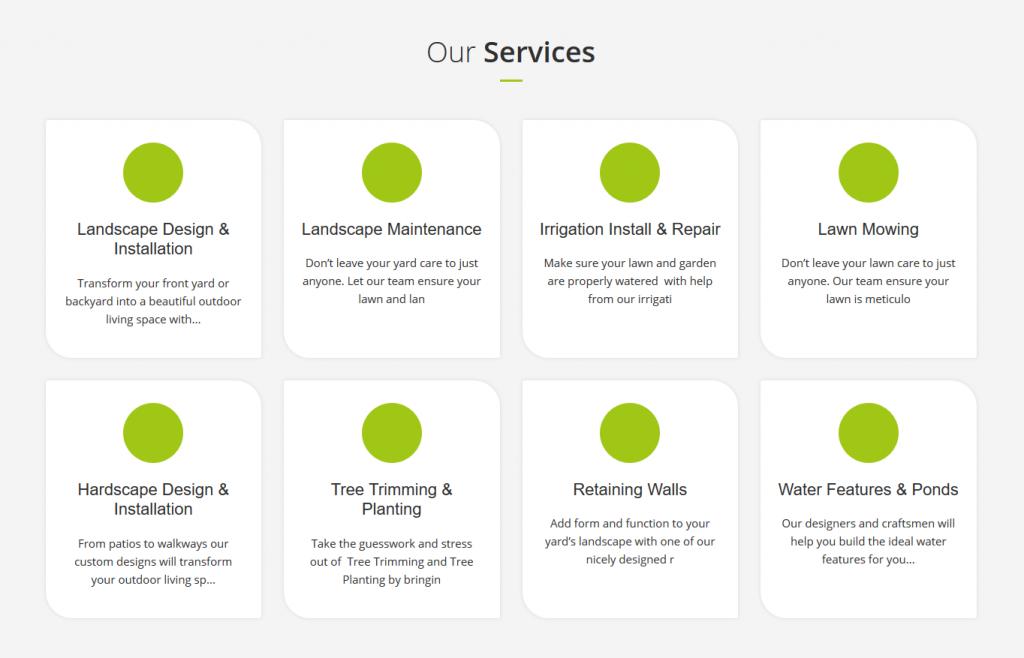 Bainbridge Island Landscaping Services Offered